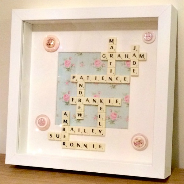 Handmade Scrabble Box Frame