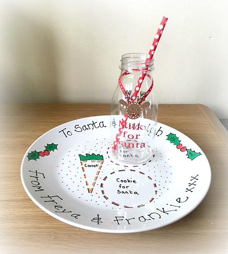 Christmas Eve Plate / Santa Plate / Rudolph Plate / Mince Pie Plate & Christmas Eve Plate / Santa Plate / Rudolph Plate / Mince Pie Plate ...