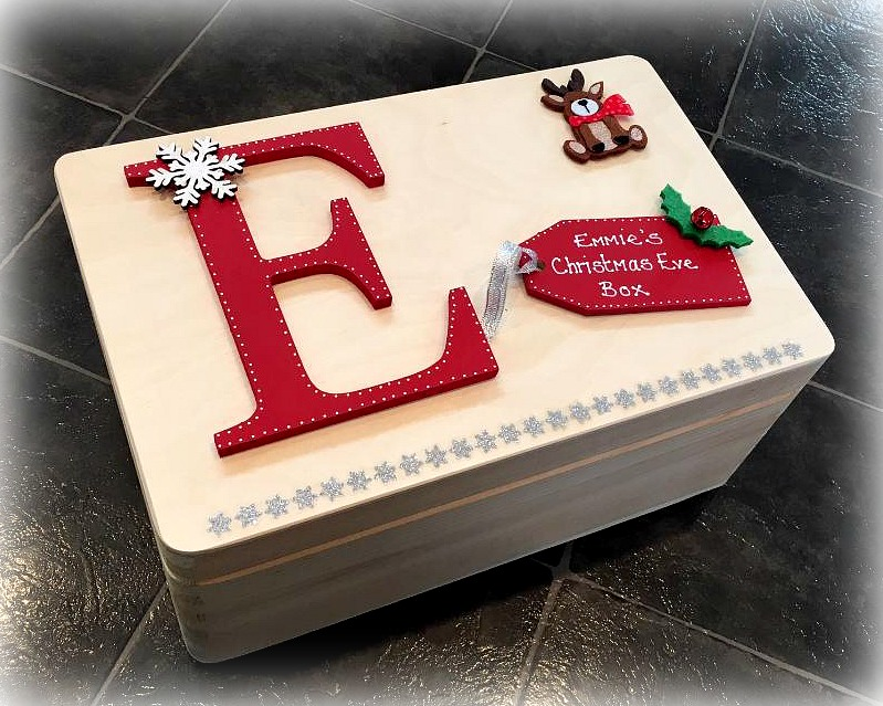 Personalised Wooden Christmas Eve Box Sparkles Amp Glitter